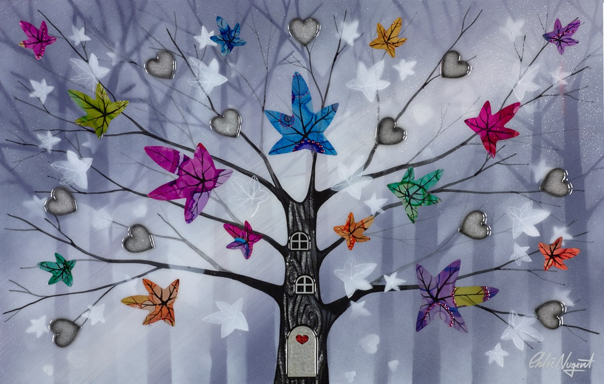 Forest of Hearts I by chloe nugent -  sized 25x16 inches. Available from Whitewall Galleries